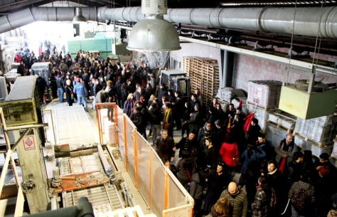 The day of the opening of the factory (image via http://biom-metal.blogspot.gr)